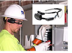 RS Electric Corp technician with Smartglasses technology.